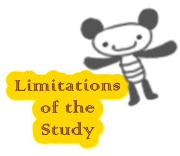 Limitation of the study in research proposal